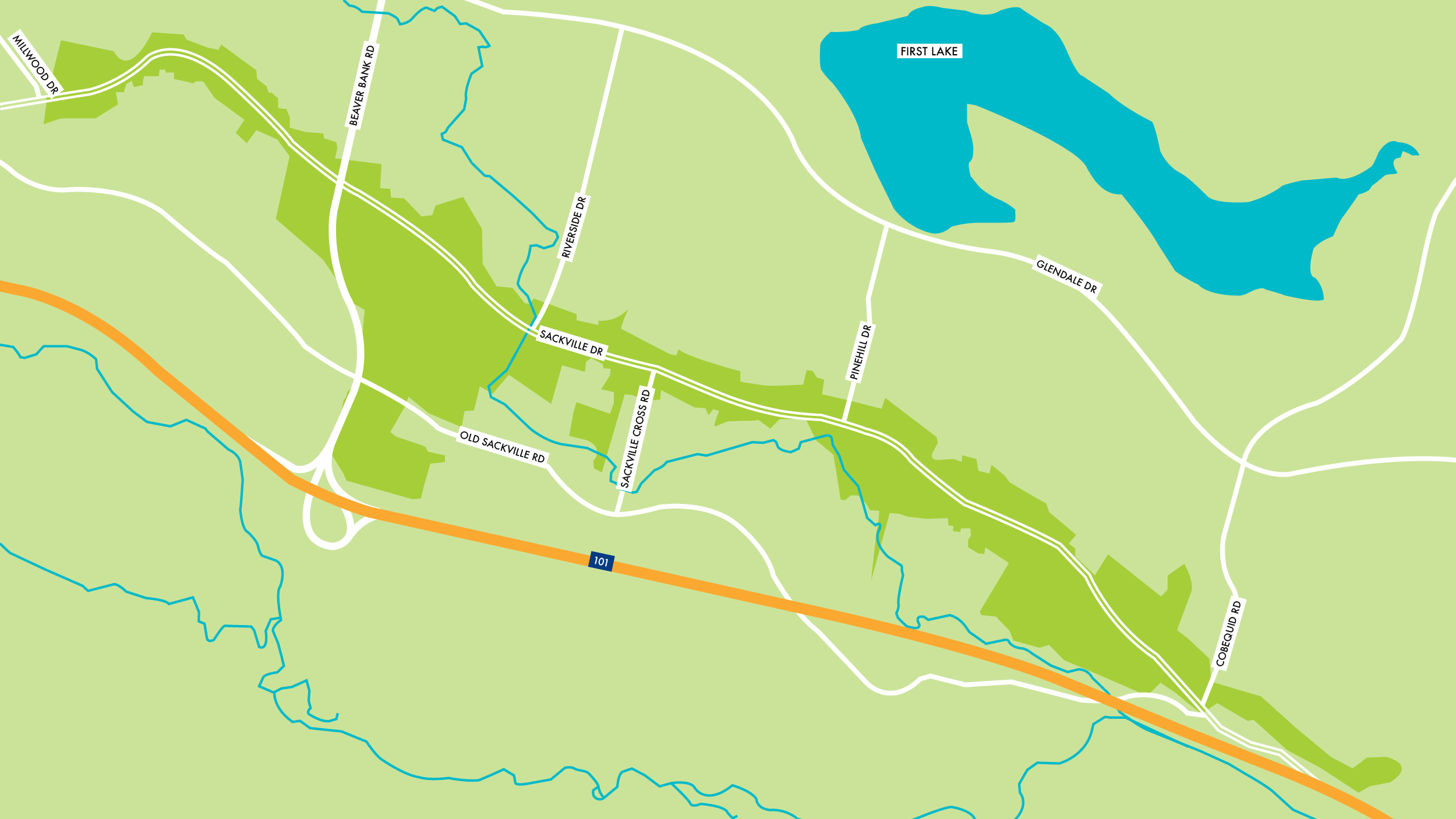 Sackville Map