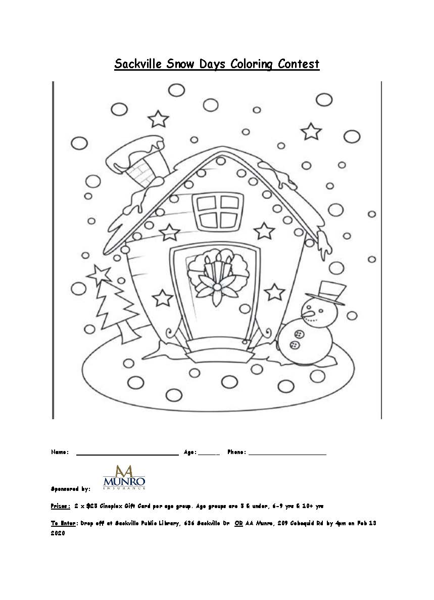 Snow Days Colouring Sheet