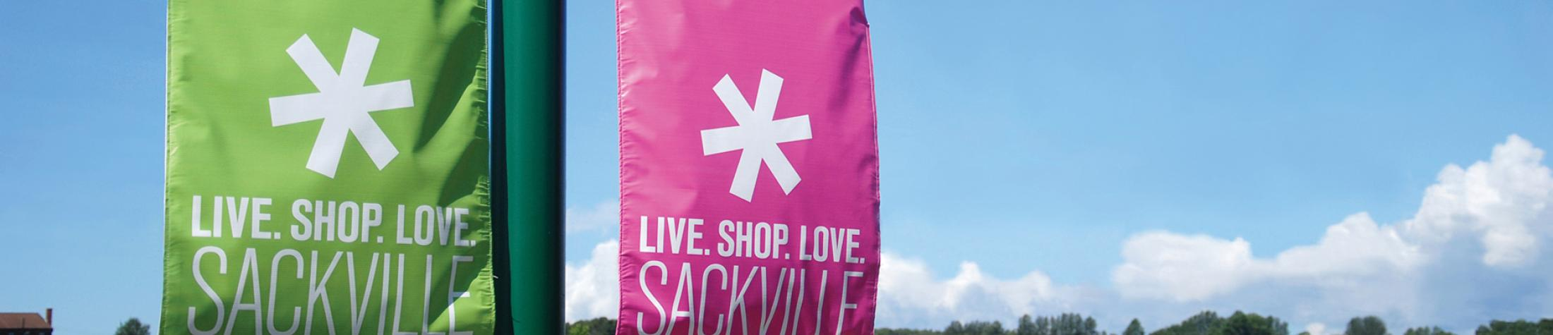 Live Shop Love in Sackville banners