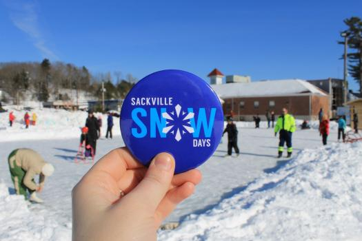 Sackville Snow Days pin